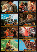 """Movie Posters:Adventure, Indiana Jones and the Temple of Doom (Paramount, 1984). UncutGerman Lobby Card Sheet of 24 (11.75"""" X 8.75""""). Adventure.. ...(Total: 24 Items)"""