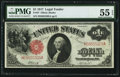 Fr. 37 $1 1917 Legal Tender PMG About Uncirculated 55 EPQ