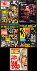 "Movie Posters:Miscellaneous, Screen Thrills Illustrated and Other Lot (Central Publications, 1962-1969). Magazines (5) (Multiple Pages, 8.25"" X 11""). Mis... (Total: 5 Items)"