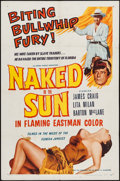"Movie Posters:Western, Naked in the Sun & Other Lot (Allied Artists, 1957). Folded,Fine/Very Fine. One Sheets (4) (27"" X 41""), International One S...(Total: 6 Items)"