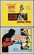 """Movie Posters:Exploitation, The Pusher & Other Lot (United Artists, 1960). Title LobbyCards (2) (11"""" X 14""""). Exploitation.. ... (Total: 2 Items)"""