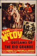 """Movie Posters:Western, Outlaws of the Rio Grande & Other Lot (PRC, 1941). One Sheets (2) (27"""" X 41""""). Western.. ... (Total: 2 Items)"""