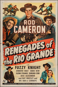 """Renegades of the Rio Grande & Other Lot (Universal, 1945). One Sheets (2) (27"""" X 41""""). Western. ... (T..."""