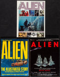 "Movie Posters:Science Fiction, Alien Magazine Lot (Simon & Schuster, 1979). Magazines (3)(Multiple Pages,8"" X 11"") The Illustrated Story. ScienceFiction.... (Total: 3 Items)"