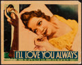 "Movie Posters:Crime, I'll Love You Always (Columbia, 1935). Lobby Card (11"" X 14"").Crime.. ..."