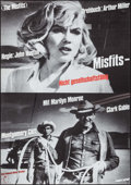 "The Misfits (Walter Kirchner, R-1960s). German A1 (23.25"" X 33""). Drama"