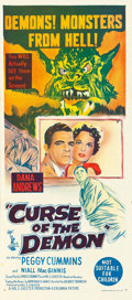 "Movie Posters:Horror, Curse of the Demon (Columbia, 1957). Australian Daybill (13"" X30"").. ..."