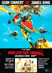 "You Only Live Twice (United Artists, 1967). German A0 (33"" X 46""). James Bond"