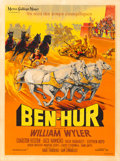 "Movie Posters:Academy Award Winners, Ben-Hur (MGM, 1959). French Grande (47"" X 63"") Roger Soubie Artwork.. ..."