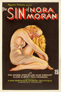 "The Sin of Nora Moran (Majestic, 1933). One Sheet (27"" X 41"") Alberto Vargas Artwork"