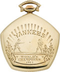 Baseball Collectibles:Others, 1923 New York Yankees World Championship Pocket Watch--The FirstYankees Championship Award!...