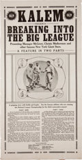 """Baseball Collectibles:Others, 1913 """"Breaking into the Big League"""" Movie Poster - With McGraw andMathewson...."""