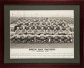 Football Collectibles:Photos, 1936 Green Bay Packers Original Oversized Team Photograph Presented to Ade Schwammel....