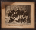 Football Collectibles:Photos, Circa 1899 Poe Brothers of Princeton Football Multi SignedOversized Original Photograph....