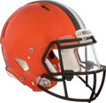 Football Collectibles:Others, 2015 Johnny Manziel Game Worn Cleveland Browns Helmet and Equipment Bag....