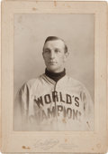 Baseball Collectibles:Photos, 1906 Art Devlin Cabinet Photograph by Horner, Type 1. ...