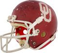 Football Collectibles:Helmets, 1978 Billy Sims Game Worn Oklahoma Sooners Helmet - Photo Matched to Heisman Season! . ...