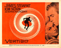 "Movie Posters:Hitchcock, Vertigo (Paramount, 1958). Half Sheet (22"" X 28"") Style A, SaulBass Artwork.. ..."