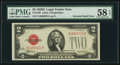 Error Notes:Inverted Reverses, Fr. 1505 $2 1928D Legal Tender Note. PMG Choice About Unc 58 EPQ.....