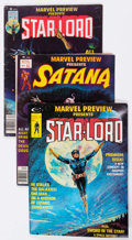 Magazines:Superhero, Marvel Preview #4, 7, and 11 Guardians of the Galaxy-Related Group(Marvel, 1975-77).... (Total: 3 Comic Books)