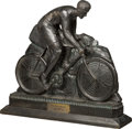 Decorative Arts, Continental:Other , An Art Deco Carved Wood Bavarian Cycling Trophy, circa 1932. 16-5/8h x 19 w x 4-1/2 d inches (42.2 x 48.3 x 11.4 cm). Pro...