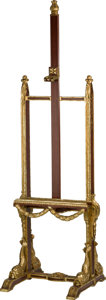Furniture , An Empire-Style Partial Giltwood Easel. 80-1/2 h x 25 w x 23-1/2 d inches (204.5 x 63.5 x 59.7 cm). Property from the Esta...
