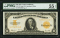 Large Size:Gold Certificates, Fr. 1173 $10 1922 Gold Certificate PMG About Uncirculated 55 EPQ.. ...