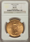 1909-S/S $20 FS-501 MS64 NGC. VP-003