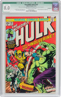 Bronze Age (1970-1979):Superhero, The Incredible Hulk #181 (Marvel, 1974) CGC Qualified VF 8.0Off-white to white pages....