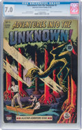 Golden Age (1938-1955):Horror, Adventures Into The Unknown #5 (ACG, 1949) CGC FN/VF 7.0 Off-whiteto white pages....