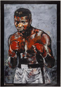 Boxing Collectibles:Autographs, Circa 2000 Muhammad Ali Signed Giclee by Stephen Holland....