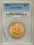 Indian Eagles: , 1932 $10 MS65 PCGS. PCGS Population: (1430/110). NGC Census:(2376/157). CDN: $2,300 Whsle. Bid for problem-free NGC/PCGS M...