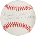 "Autographs:Baseballs, Mel Allen ""How About That"" Single Signed Baseball. ..."