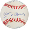 Autographs:Baseballs, 50 Home Run Hitters Multi Signed Baseball (6 Signatures) - IncludesMantle, Kiner, Mays, Mize, Foster, & Fielder. ...