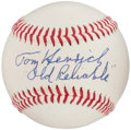 "Autographs:Baseballs, Tommy Henrich Single Signed Baseball - With ""Old Reliable""Inscription. ..."