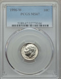 1996-W 10C MS67 PCGS. This lot will also include the following: 1996-W 10C MS68 PCGS; 1996-W 10C MS67 Full Bands PCGS;...