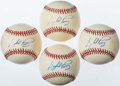 Autographs:Baseballs, Gaylord Perry Single Signed Baseball Lot of 4. ...