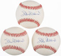 Autographs:Baseballs, Stan Musial Single Signed Baseballs Lot of 3. ...