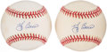 Autographs:Baseballs, Yogi Berra Single Signed Baseball Pair (2). ...