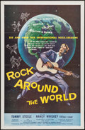 "Movie Posters:Rock and Roll, Rock Around the World (American International, 1957). One Sheet(27"" X 41""). Rock and Roll.. ... (Total: 2 Items)"