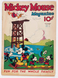 Platinum Age (1897-1937):Miscellaneous, Mickey Mouse Magazine #12 (K. K. Publications/Western PublishingCo., 1936) Condition: GD....