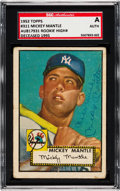 Baseball Cards:Singles (1950-1959), 1952 Topps Mickey Mantle #311 Signed, SGC Authentic....