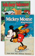 Platinum Age (1897-1937):Miscellaneous, Mickey Mouse Magazine #4 and 9 Group (K. K. Publications/WesternPublishing Co., 1935-36) Condition: PR.... (Total: 2 Comic Books)