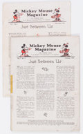 Platinum Age (1897-1937):Miscellaneous, Mickey Mouse Magazine #2 and 3 Group (K. K. Publications/WesternPublishing Co., 1935) Condition: Coverless.... (Total: 2 ComicBooks)