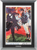 "Baseball Collectibles:Others, 1990's ""Leo and the Ump"" Print Display Signed by LeRoy Neiman...."