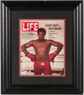 "Boxing Collectibles:Autographs, Muhammad Ali Signed ""Life"" Magazine Display. ..."