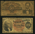 Fractional Currency:Fourth Issue, Fr. 1307 25¢ Fourth Issue VG;. Fr. 1374 50¢ Fourth Issue Good.. ...