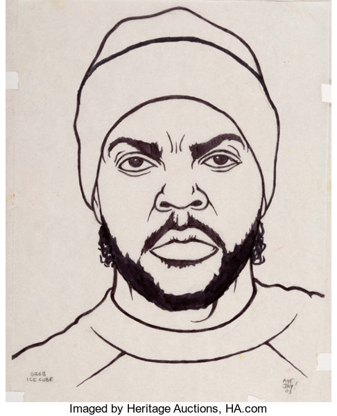 Aye Jay (Anthony Morano) Gangsta Rap Coloring Book Ice | Lot #11116 ...