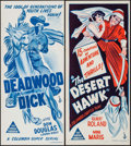 """Movie Posters:Serial, The Desert Hawk & Other Lot (Columbia, 1944). Australian Daybills (2) (13"""" X 30""""). Serial.. ... (Total: 2 Items)"""