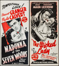 "Movie Posters:Romance, Madonna of the Seven Moons & Other Lot (BEF, 1945). AustralianDaybills (2) (13"" X 30""). Romance.. ... (Total: 2 Items)"